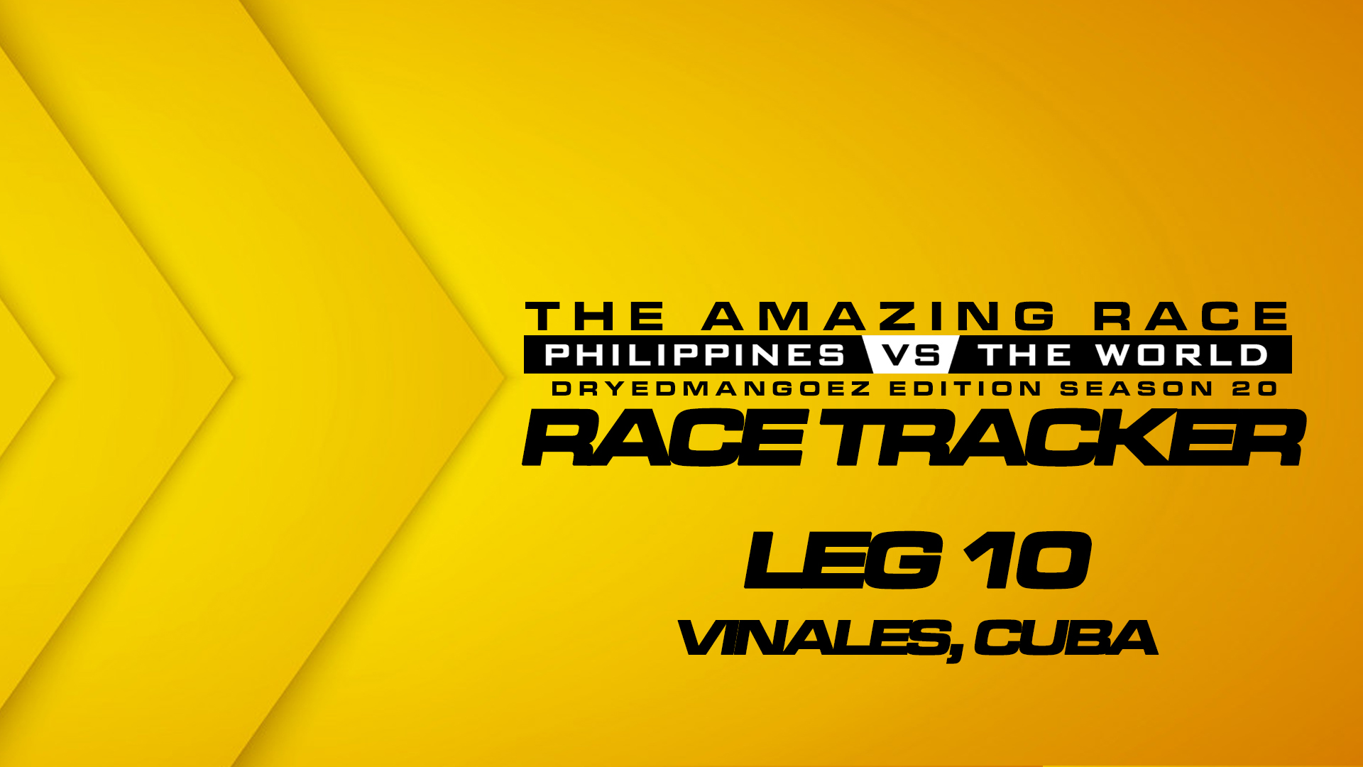 The Amazing Race Philippines vs The World (DryedMangoez Edition Season 20) Race Tracker – Leg 10