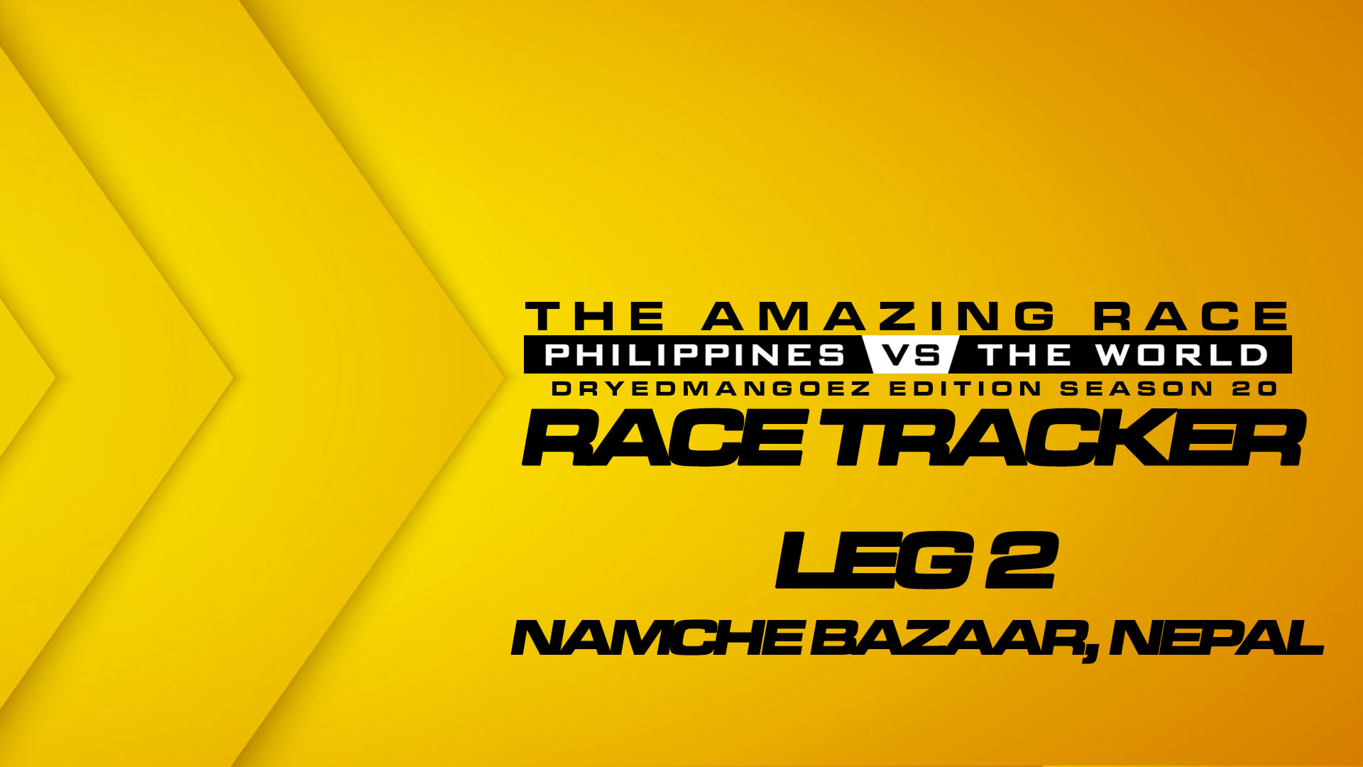 The Amazing Race Philippines vs The World (DryedMangoez Edition Season 20) Race Tracker – Leg 2