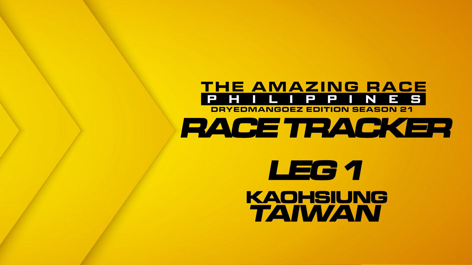 The Amazing Race Philippines: DryedMangoez Edition Season 21 Race Tracker – Leg 1