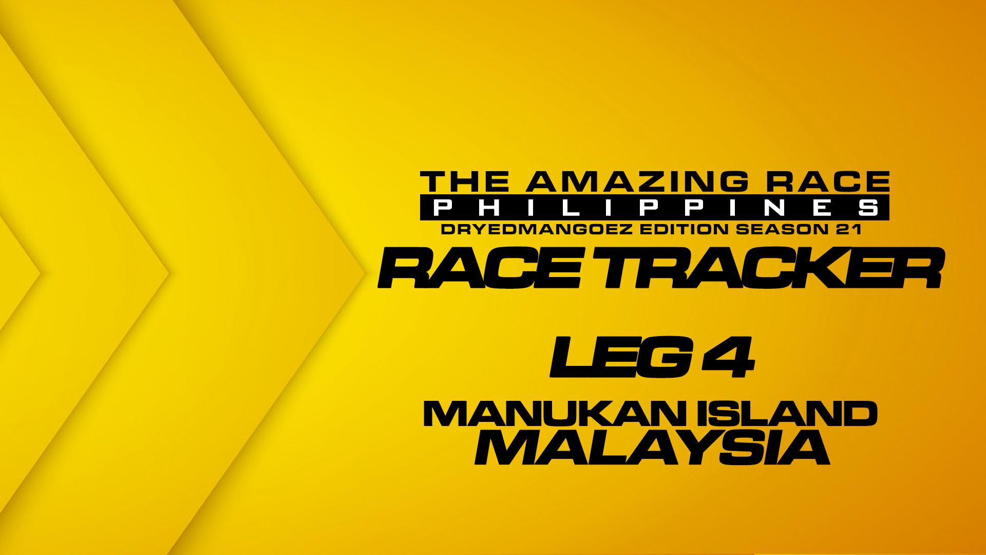 The Amazing Race Philippines: DryedMangoez Edition Season 21 Race Tracker – Leg 4