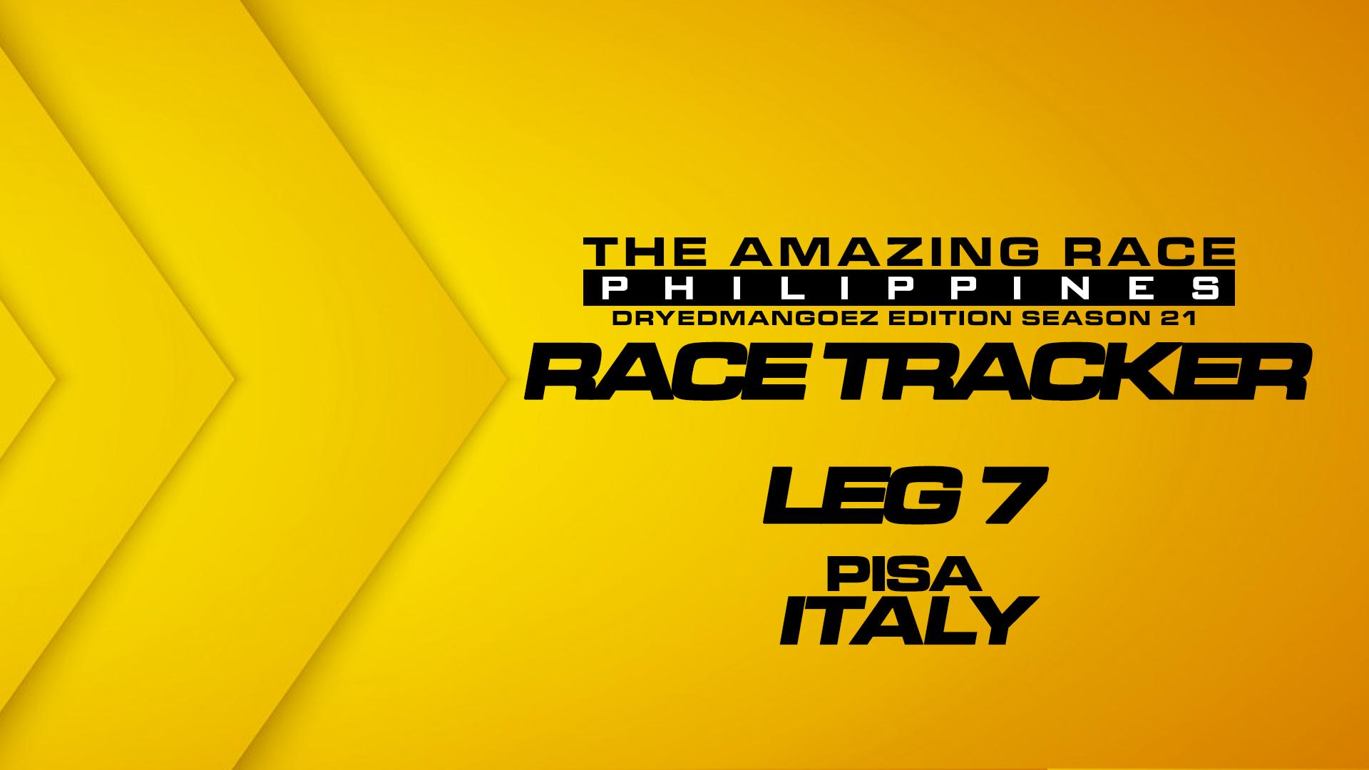The Amazing Race Philippines: DryedMangoez Edition Season 21 Race Tracker – Leg 7