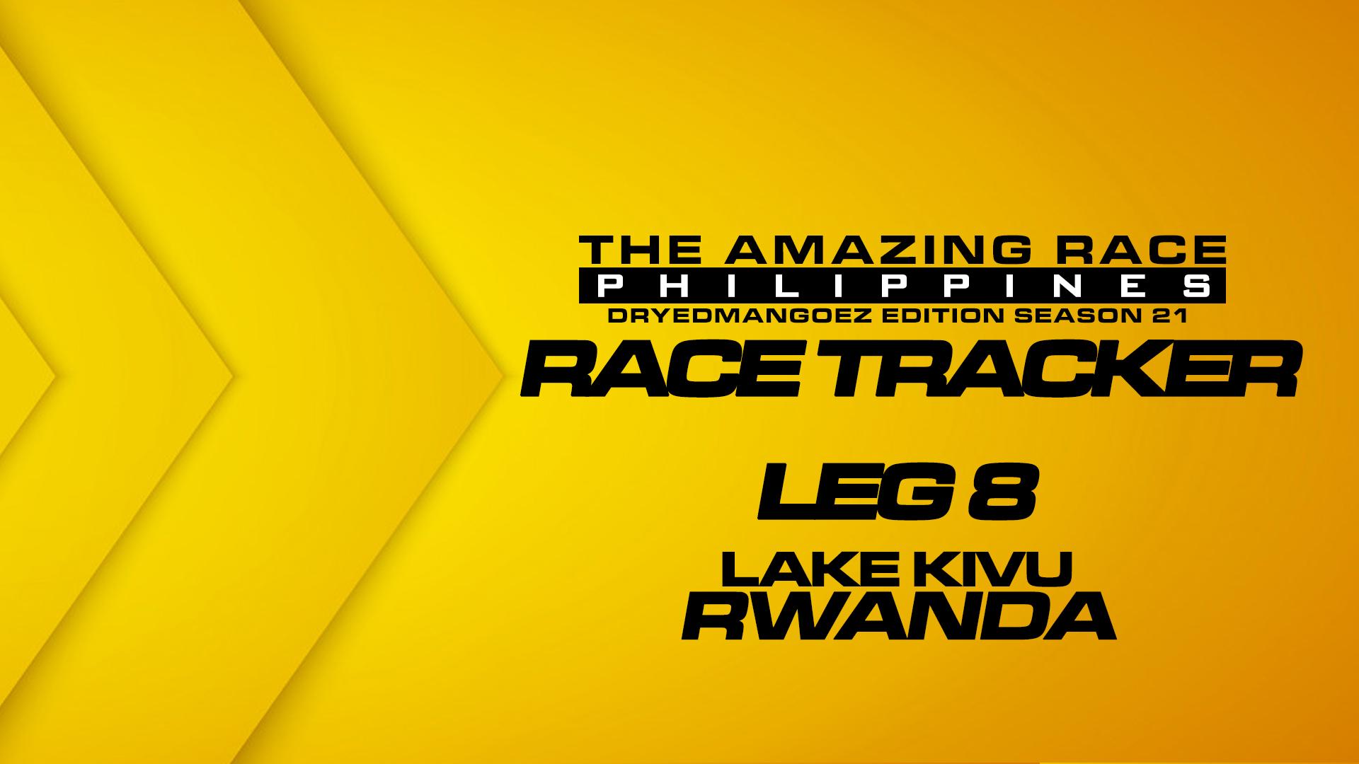 The Amazing Race Philippines: DryedMangoez Edition Season 21 Race Tracker – Leg 8