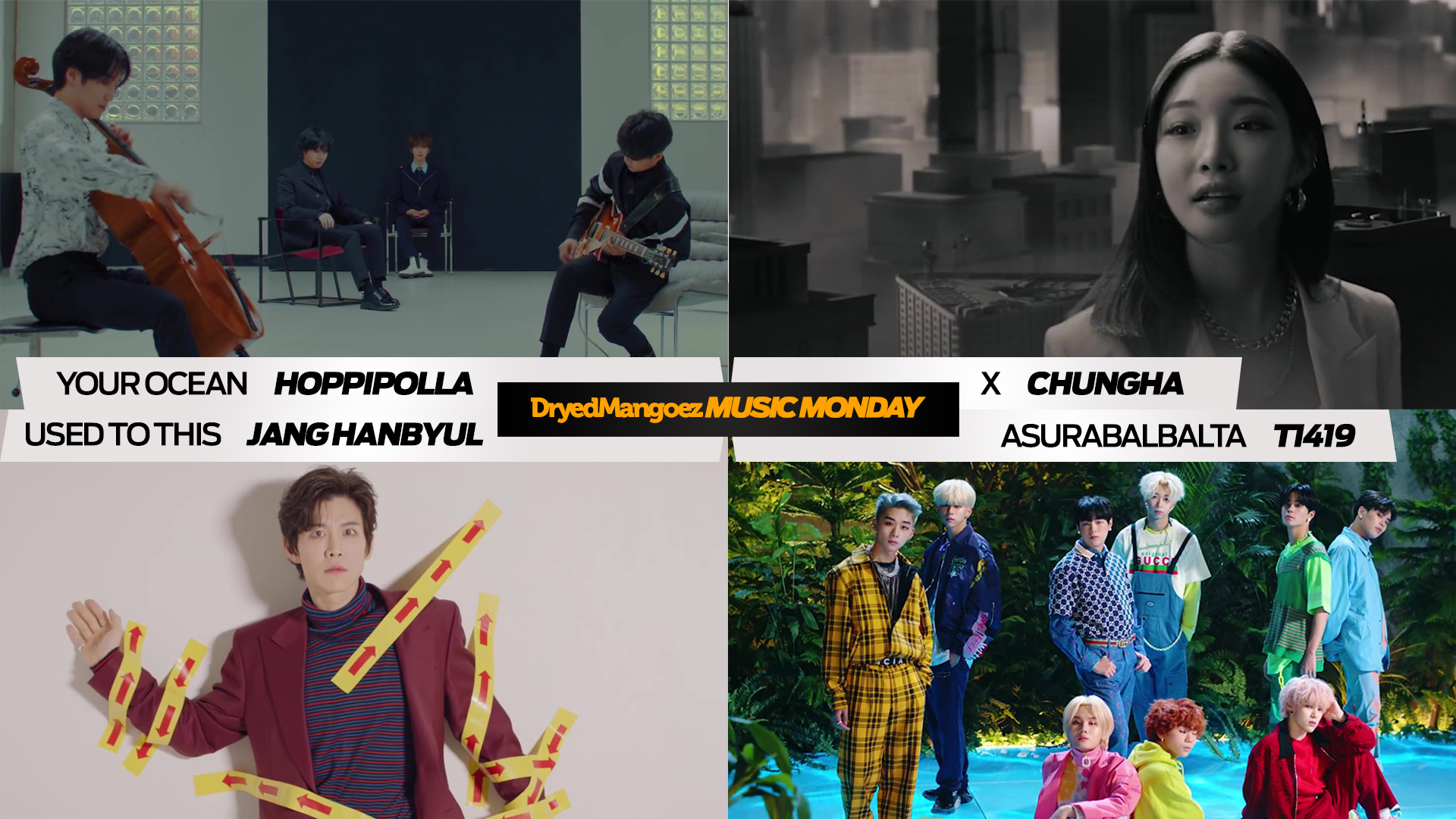 Music Monday, January 25, 2021 (Part 2) – Hoppipolla, Chungha, Jang Hanbyul, T1419