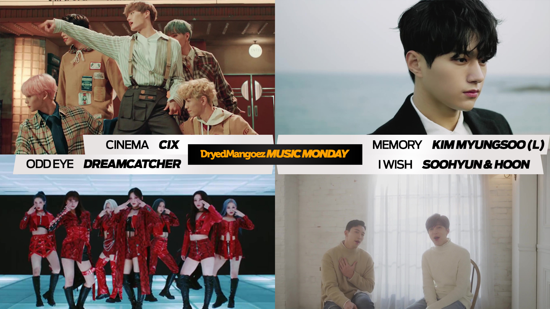 Music Monday, February 8, 2021 – CIX, Kim Myungsoo (L), Dreamcatcher and U-KISS' Soohyun & Hoon