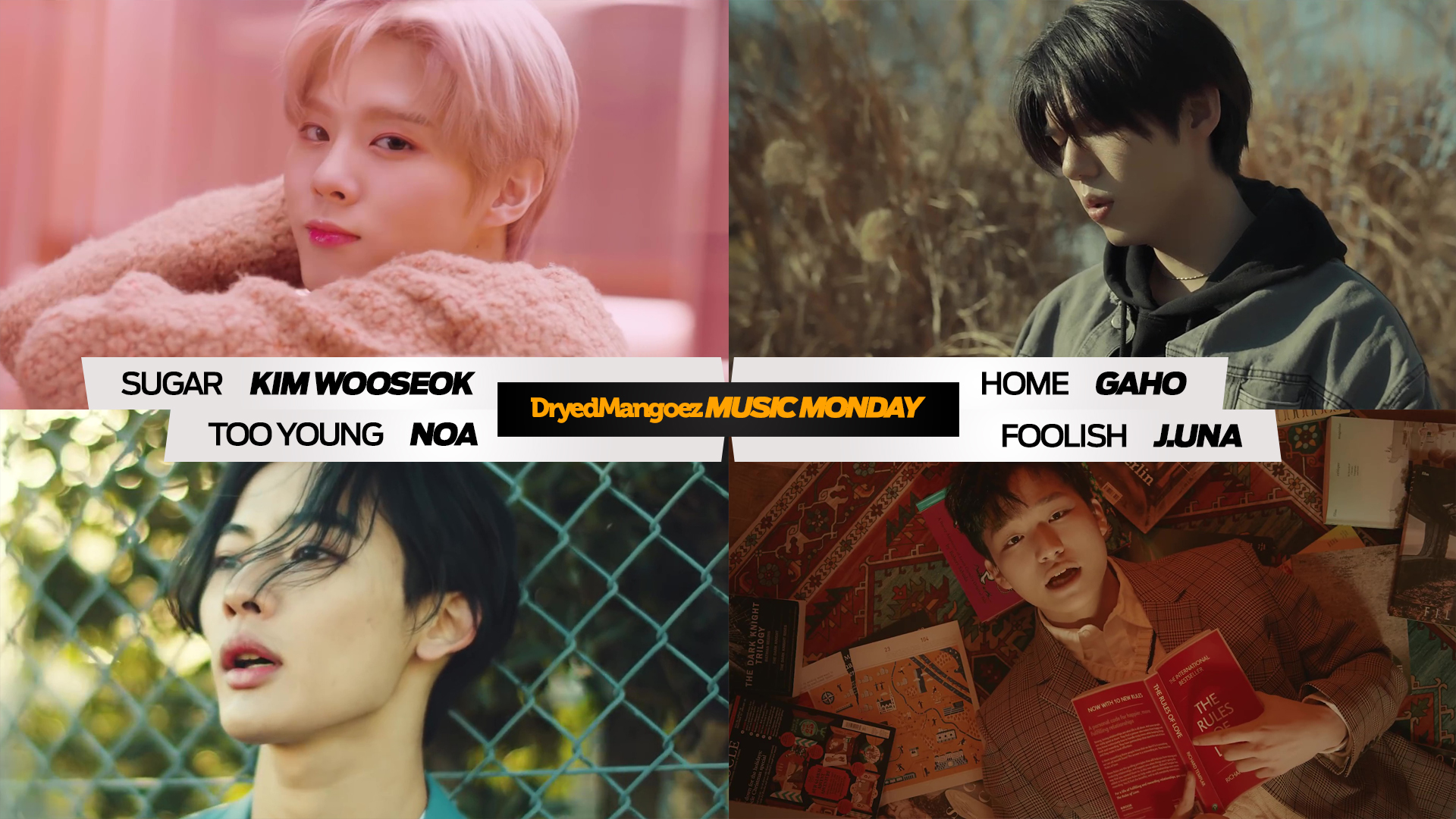 Music Monday, February 15, 2021 – Kim Wooseok, Gaho, NOA, J.UNA