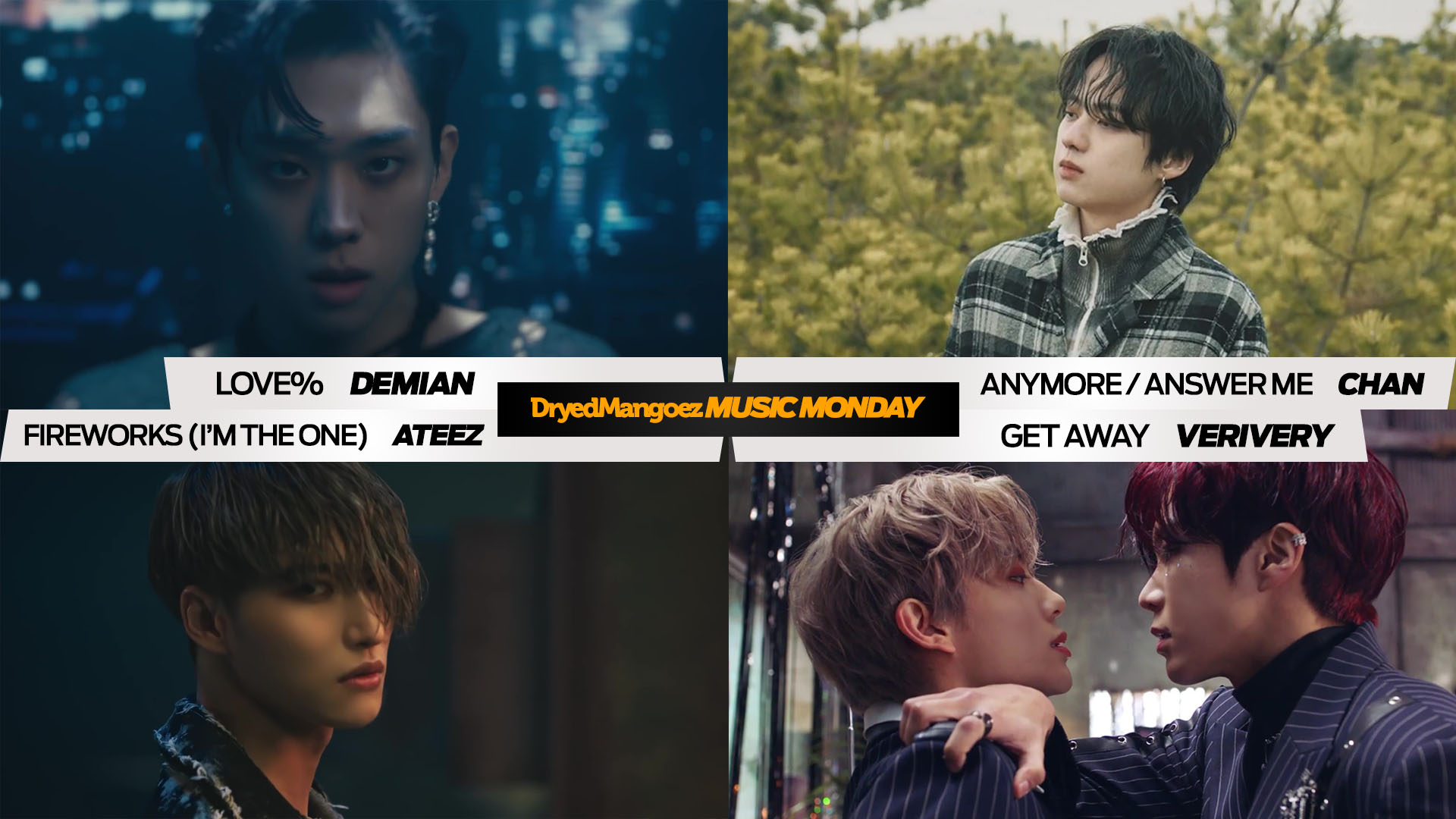 Music Monday, March 8, 2021 – Five Great Tracks from Four Great Artists: Demian, Chan, ATEEZ, VERIVERY