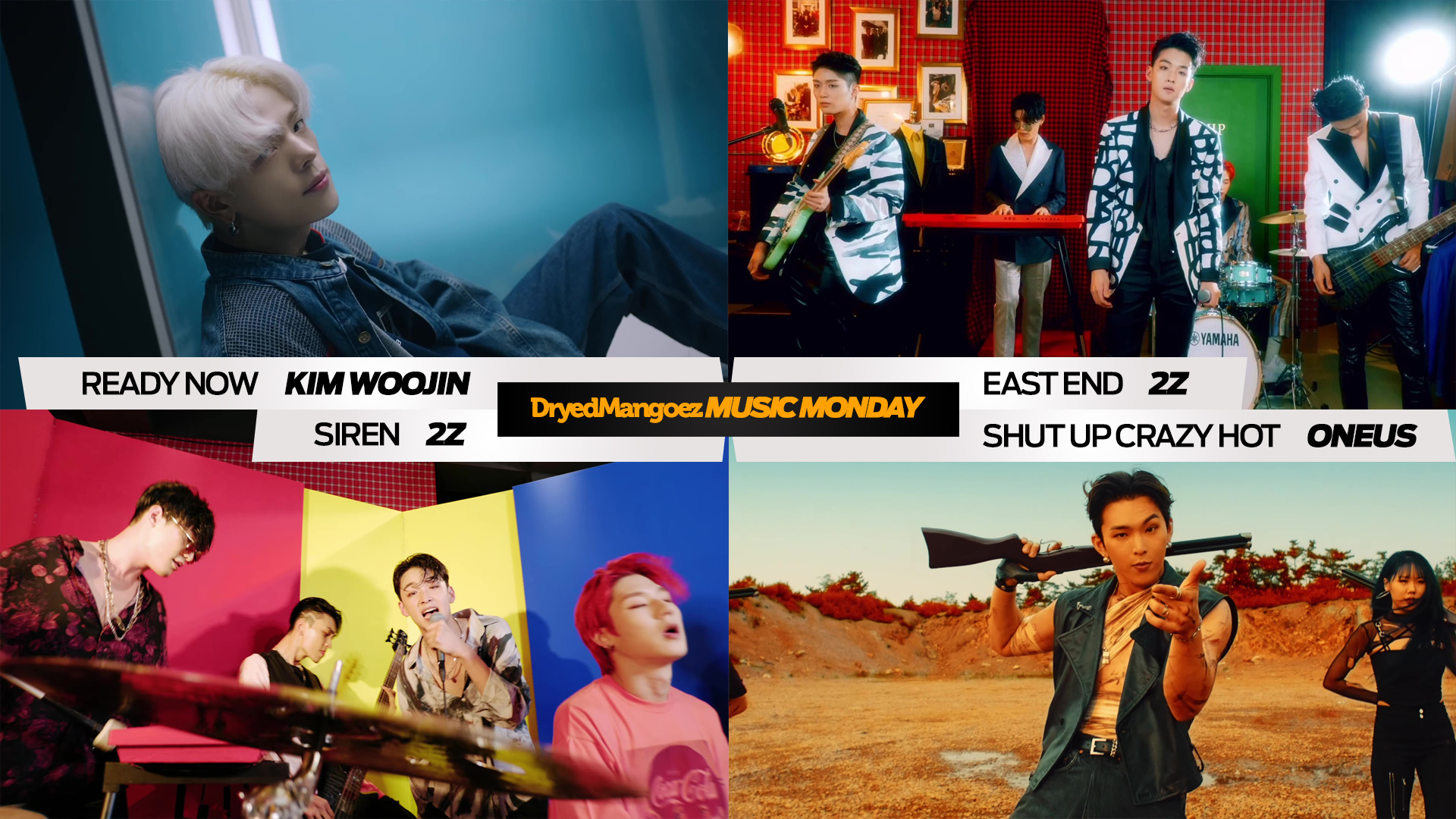 Music Monday, August 9, 2021 – Excellent Tracks from Excellent Artists: Kim Woojin, 2Z, ONEUS