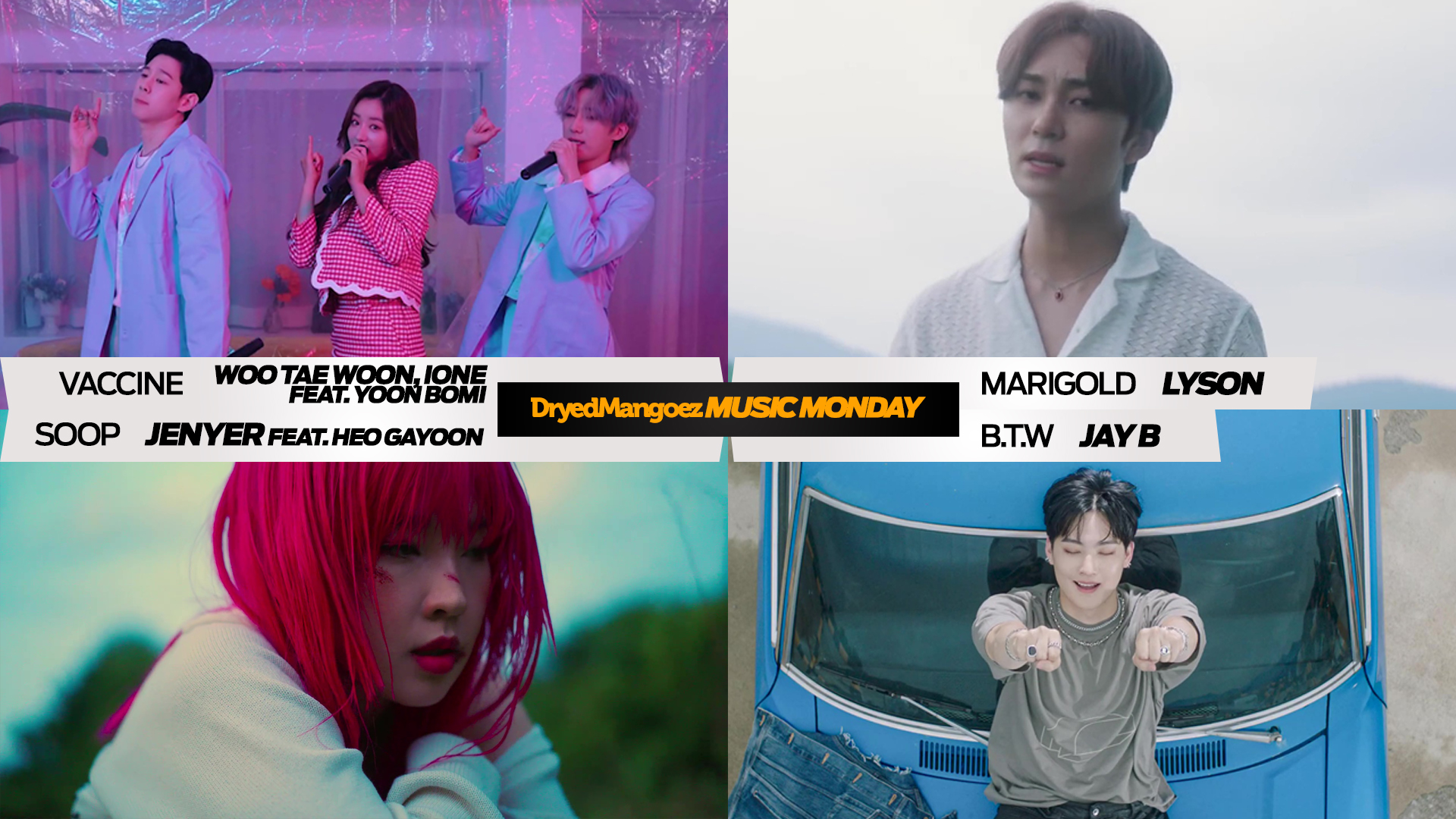 Music Monday, August 30, 2021 (Part 2) – Woo Tae Woon, IONE feat. Yoon Bomi, Lyson, Jenyer feat. Heo Gayoon, Jay B