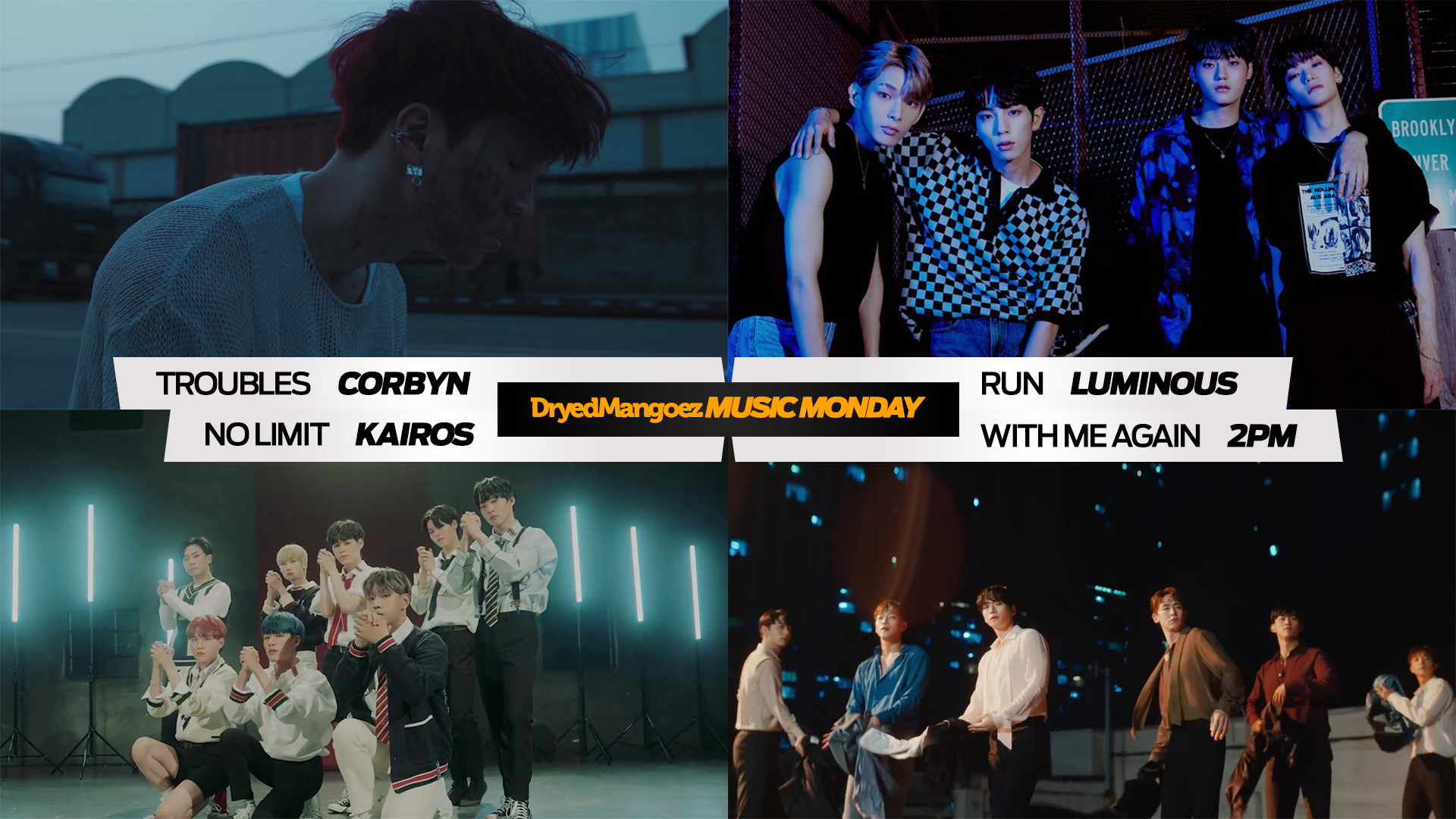Music Monday, September 13, 2021 (Part 1) – Talented rookies and prolific comebacks featuring Corbyn, Luminous, Kairos and 2PM.