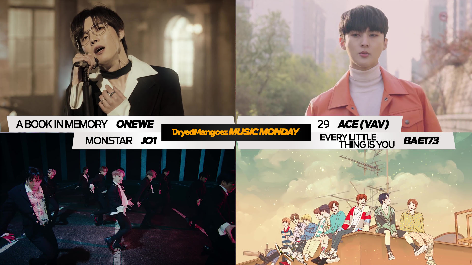 Music Monday, December 14, 2020 – ONEWE, ACE (VAV), JO1, BAE173