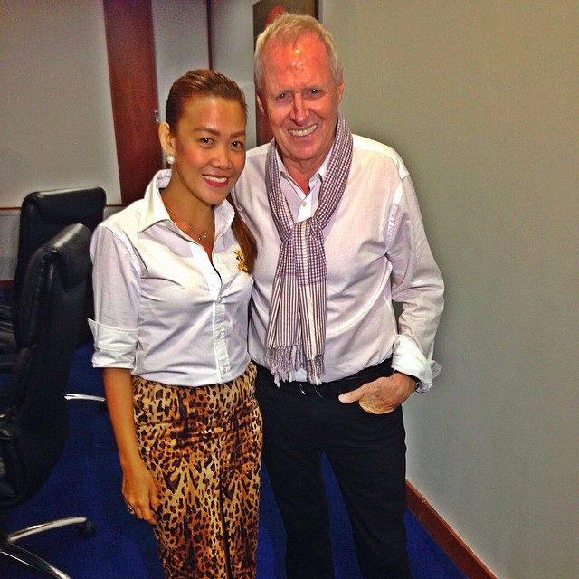Ms. Margie Natividad with TAR creator and Executive Producer Bertram Van Munster
